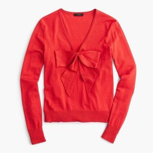 J Crew Lightweight wool bow sweater